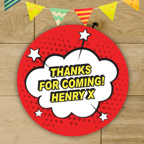 Personalised birthday party stickers party bag stickers thank you stickers