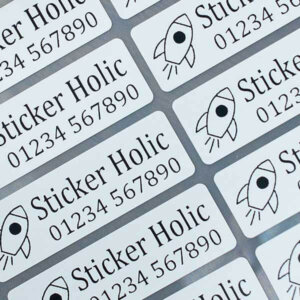 sticker holic iron-on clothing name labels - large