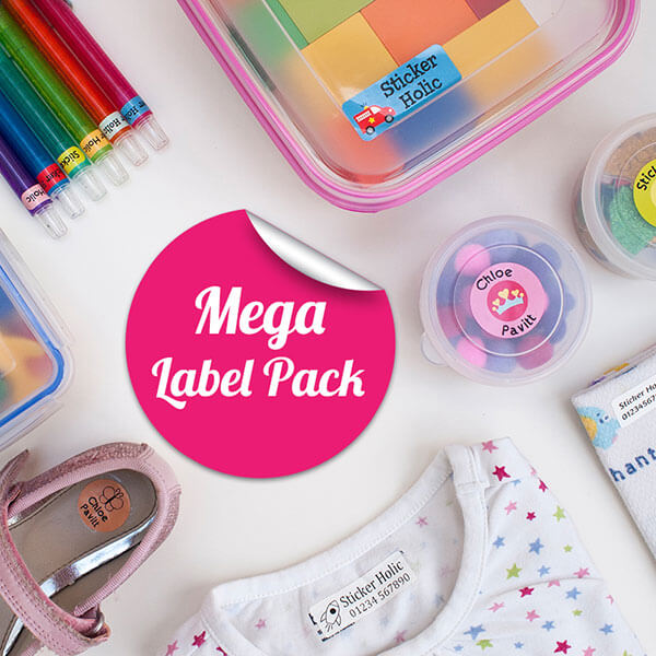 sticker holic mega name label pack