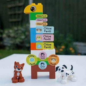 sticker holic sticky name labels - zoo animals