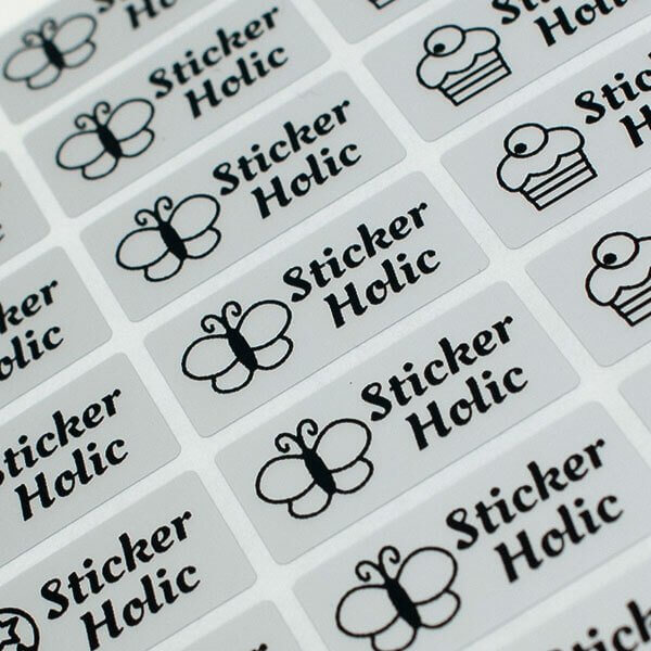 Stick on Clothing Labels - Silver