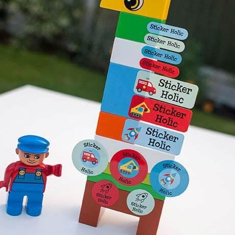 sticker holic sticky name labels - vroom vroom