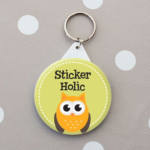 sticker holic personalised bag tag