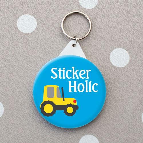 sticker holic personalised bag tag