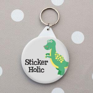 kids dinosaur name tag