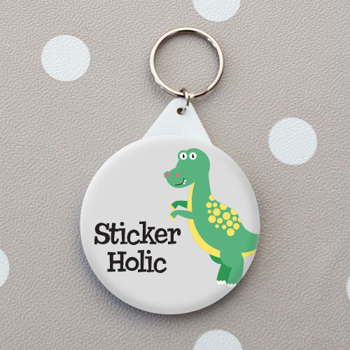 kids dinosaur name tag