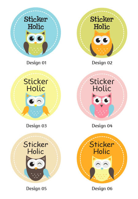 sticker holic bag tag owl