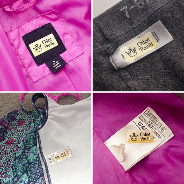 stick on clothing labels. school uniform name labels