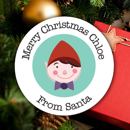 PERSONALISED CHRISTMAS STICKERS
