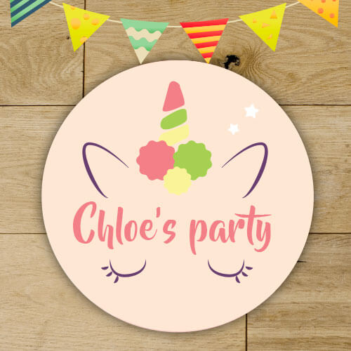 cones 24 personalised Unicorn party bag stickers birthday favours