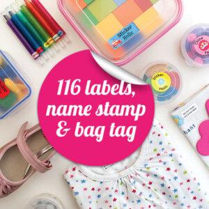 sticker holic school labels starter pack