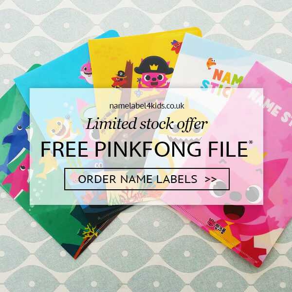 free pinkfong baby shark file with school labels pack