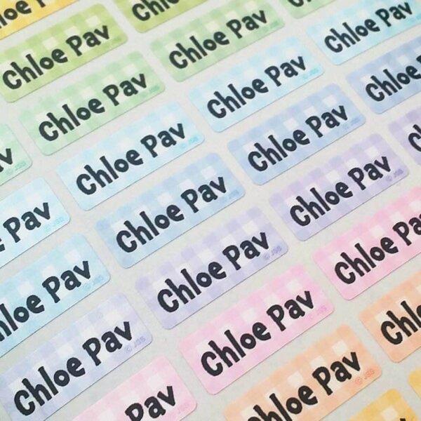 sticky mini labels