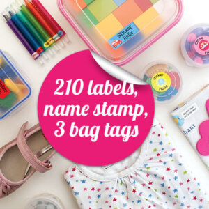 sticker holic School Name Labels Mega Pack 1