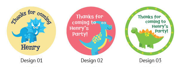 birthday party bag thank you stickers
