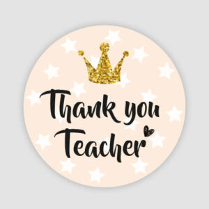 THANK YOU TEACHER STICKERS