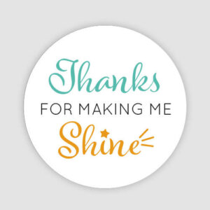 thanks for making me shine teacher stickers
