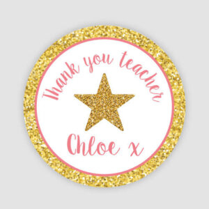 custom thank you teacher stickers