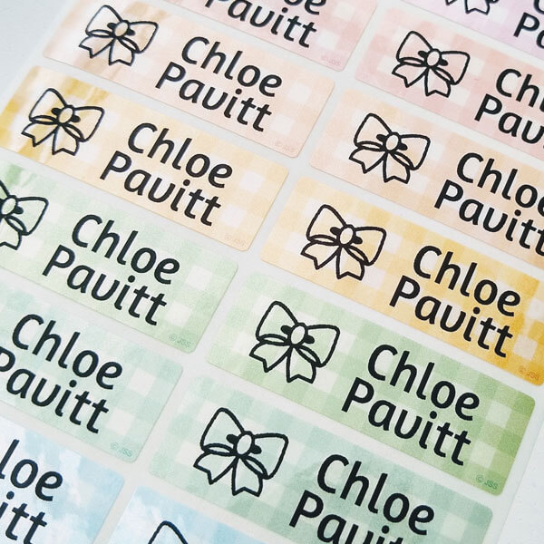 sticky name labels school labels object name labels sticker holic