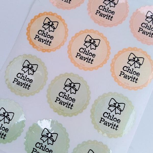 sticky mini labels school labels
